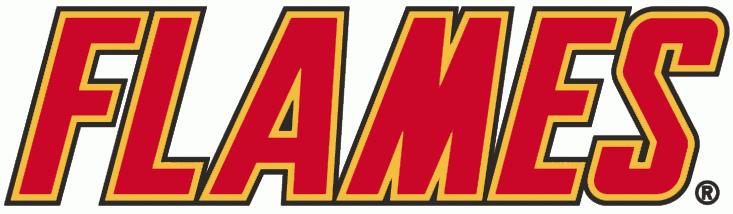 Calgary Flames Logo Wordmark Logo (1994/95-2001/02) -  SportsLogos.Net
