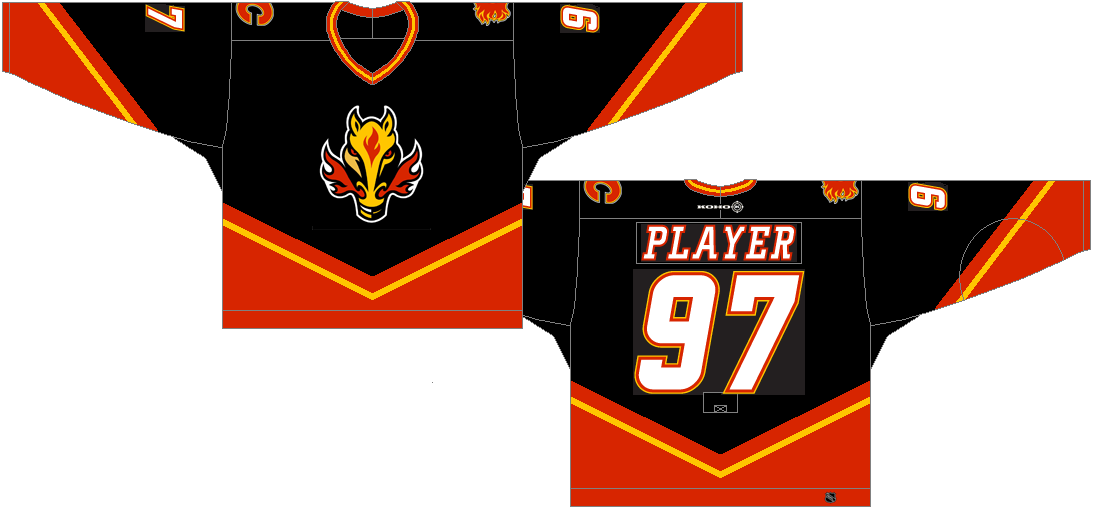 Calgary Flames Uniform 87