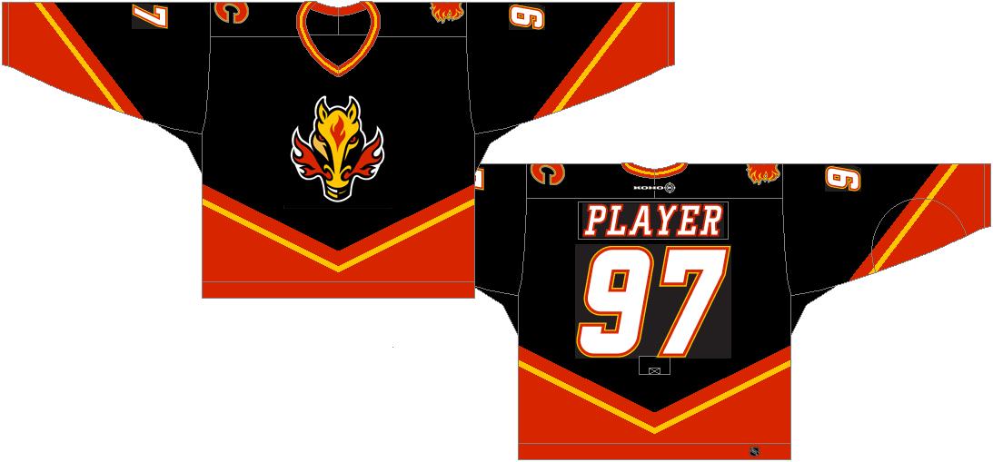 Calgary Flames Dark Uniform National Hockey League Nhl Chris