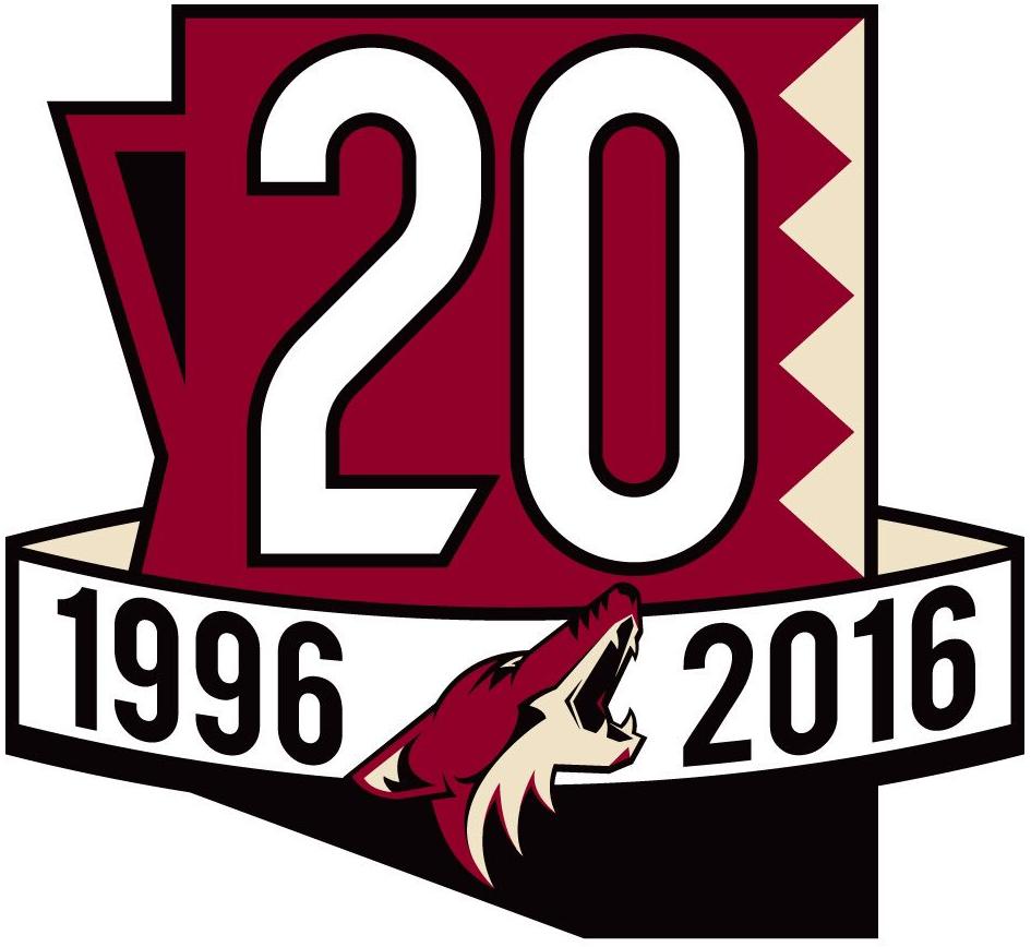 Arizona Coyotes Logo Anniversary Logo (2016/17) -  SportsLogos.Net