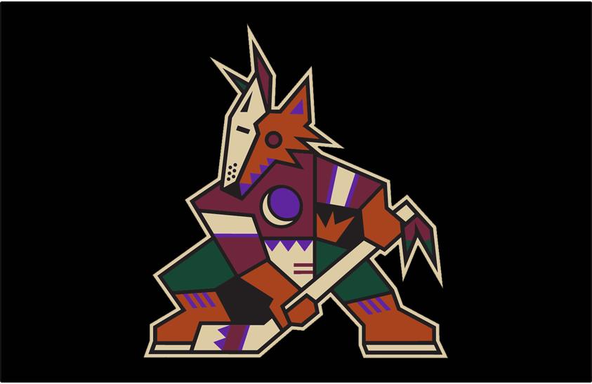 Arizona Coyotes Logo Jersey Logo (2018/19-Pres) - Original Coyotes logo brought back as a throwback full-time alternate uniform beginning with 2018-19 season SportsLogos.Net