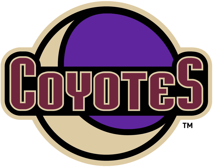 Arizona Coyotes Logo Alternate Logo (2018/19-Pres) - Original Coyotes secondary logo now without geographic identifier brought back to be worn on the shoulder on their throwback full-time alternate uniform beginning with 2018-19 season. This logo isn't officially classified as an alternate team logo but considering its usage we've done so for our collection SportsLogos.Net