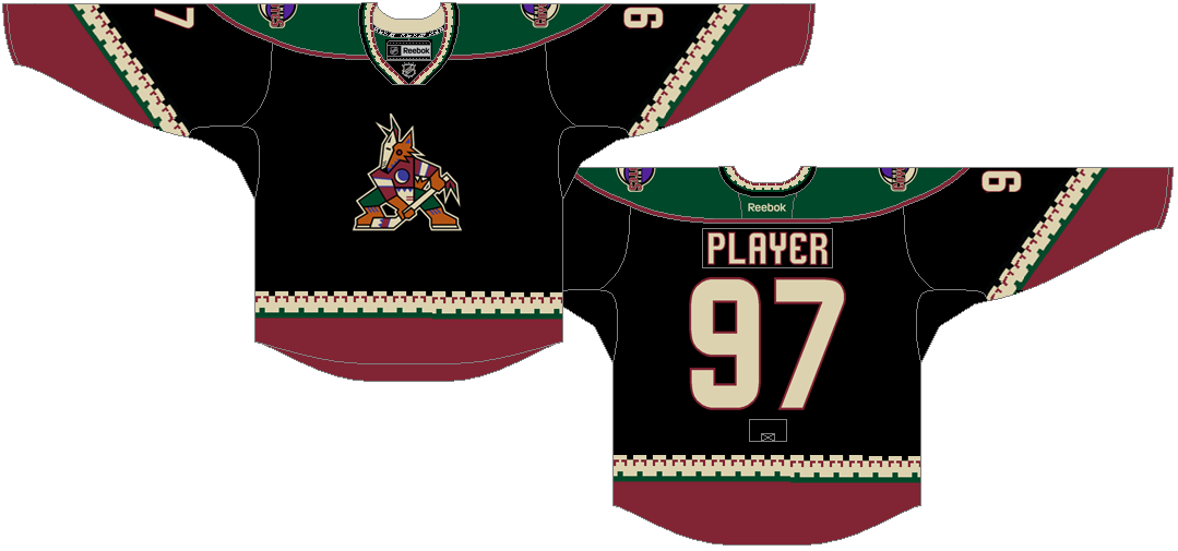 Arizona Coyotes Uniform Special Event Uniform (2014/15) - Throwback jersey worn for one game on March 5, 2015 for Coyotes Throwback Night VS Vancouver Canucks. SportsLogos.Net