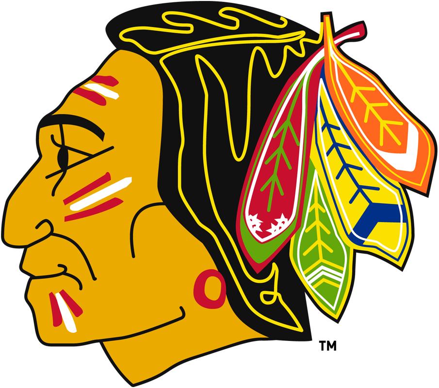 Chicago Black Hawks Logo Primary Logo (1957/58-1958/59) - Modernized Native American head SportsLogos.Net
