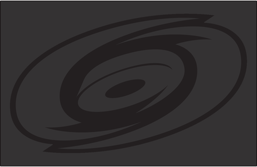 Carolina Hurricanes Logo Misc Logo (2018/19-Pres) - Carolina Hurricanes primary logo in tonal grey, worn on shoulder of Hurricanes third jersey SportsLogos.Net
