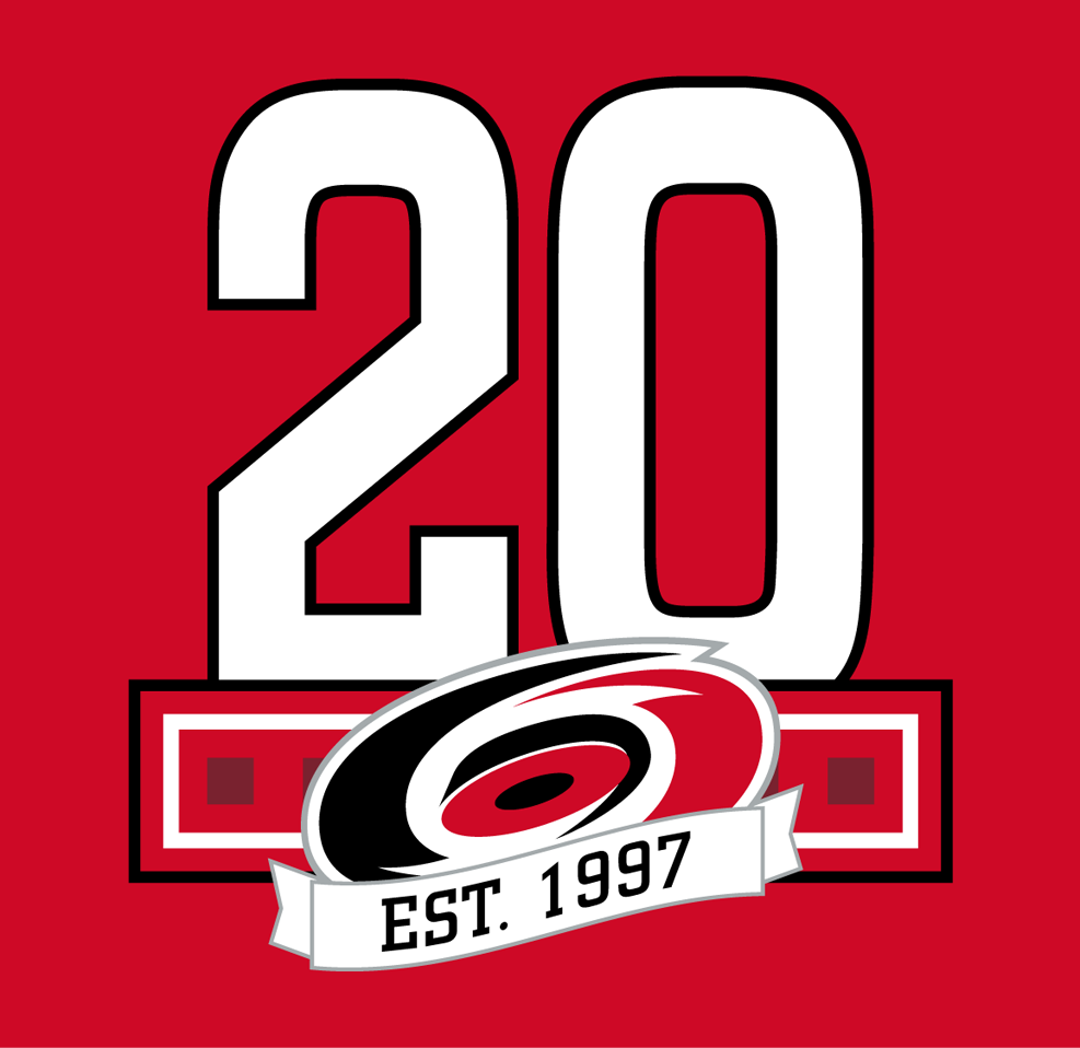 Carolina Hurricanes Logo Anniversary Logo (2017/18) -  SportsLogos.Net
