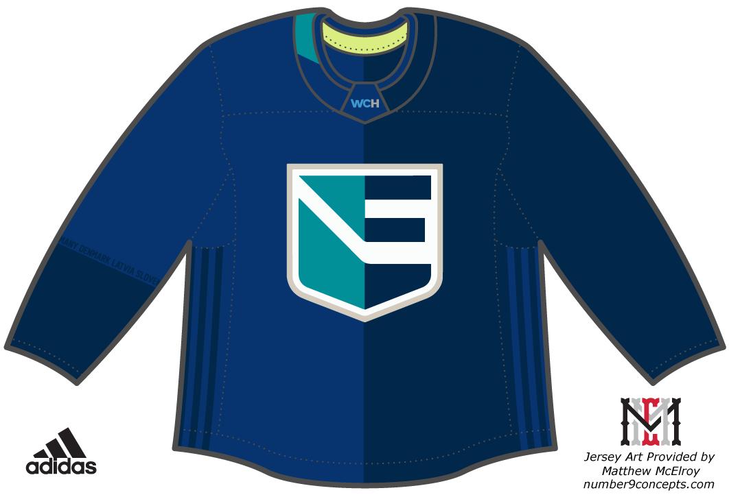 World Cup of Hockey Uniform Dark Uniform (2016/17) - Team Europe dark jersey for the World Cup of Hockey 2016 SportsLogos.Net