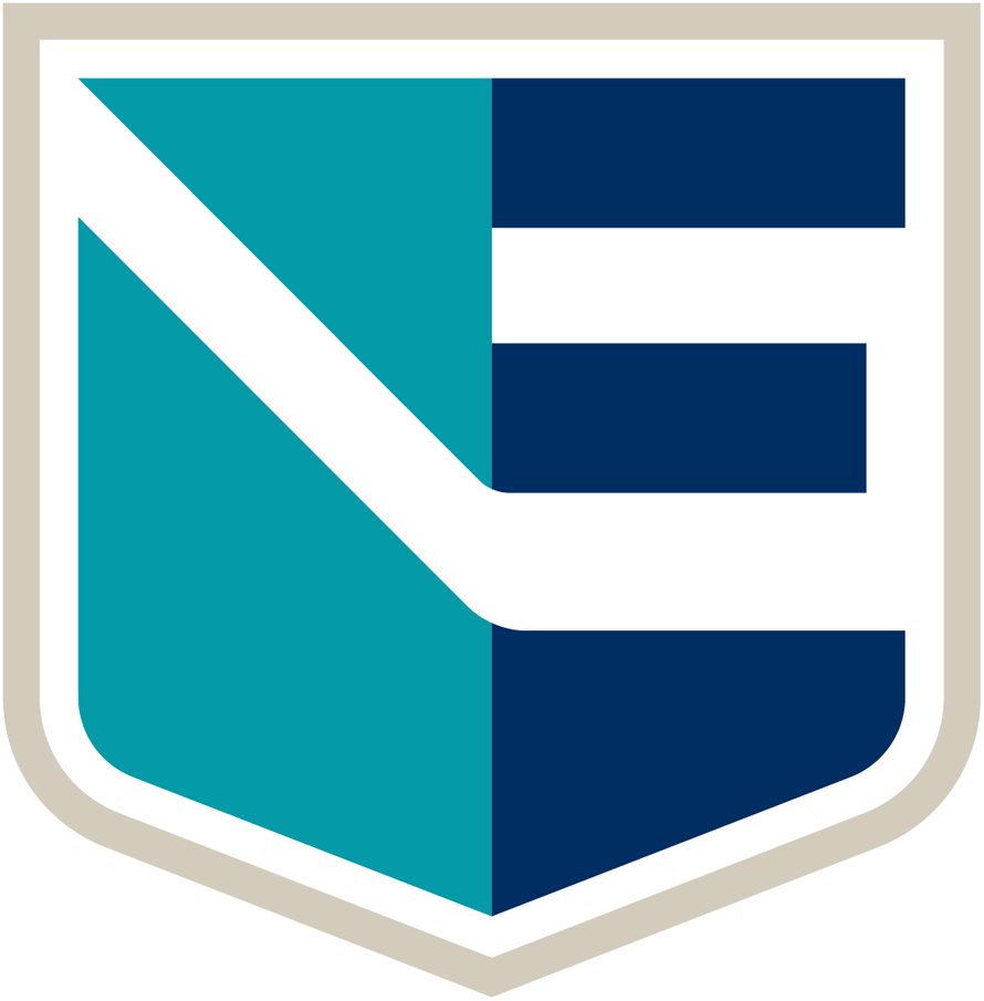 World Cup of Hockey Logo Team Logo (2016/17) - Team Europe logo for the 2016 World Cup of Hockey. A teal and blue shield with an E and a hockey stick in white SportsLogos.Net
