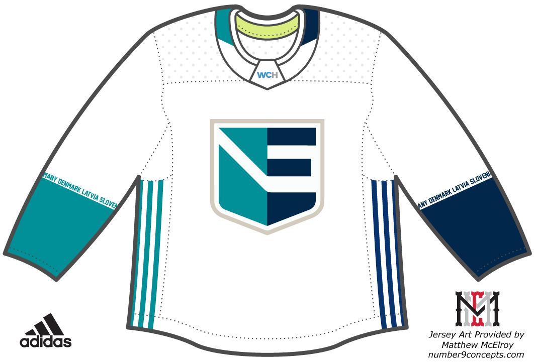 World Cup of Hockey Uniform Light Uniform (2016/17) - Team Europe light jersey for the World Cup of Hockey 2016 SportsLogos.Net
