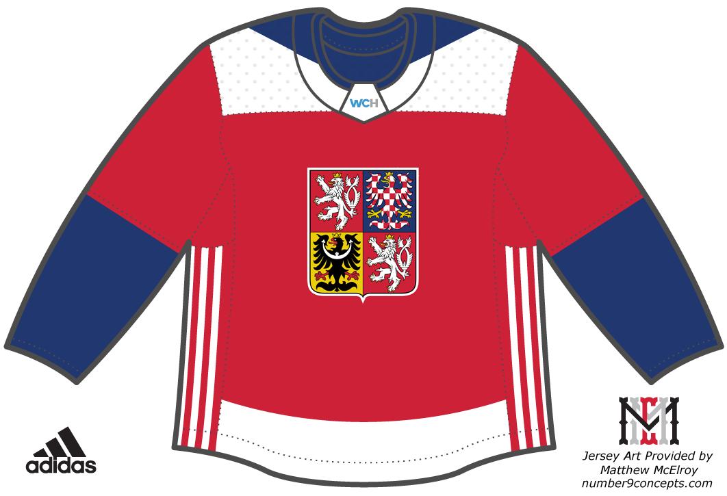 World Cup of Hockey Uniform Dark Uniform (2016/17) - Team Czech Republic dark jersey for the World Cup of Hockey 2016 SportsLogos.Net