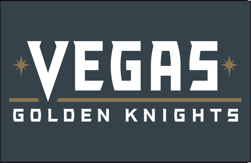 Vegas Golden Knights Logo Wordmark Logo (2017/18-Pres) - Vegas Golden Knights wordmark on steel grey SportsLogos.Net