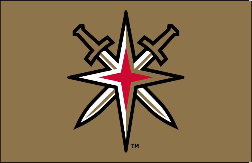 Vegas Golden Knights Logo Alt on Dark Logo (2017/18-Pres) - Vegas Golden Knights alternate starburst logo on gold background SportsLogos.Net