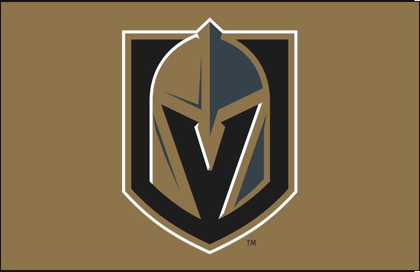 Vegas Golden Knights Logo Primary Dark Logo (2017/18-Pres) - Vegas Golden Knights primary logo on gold background SportsLogos.Net