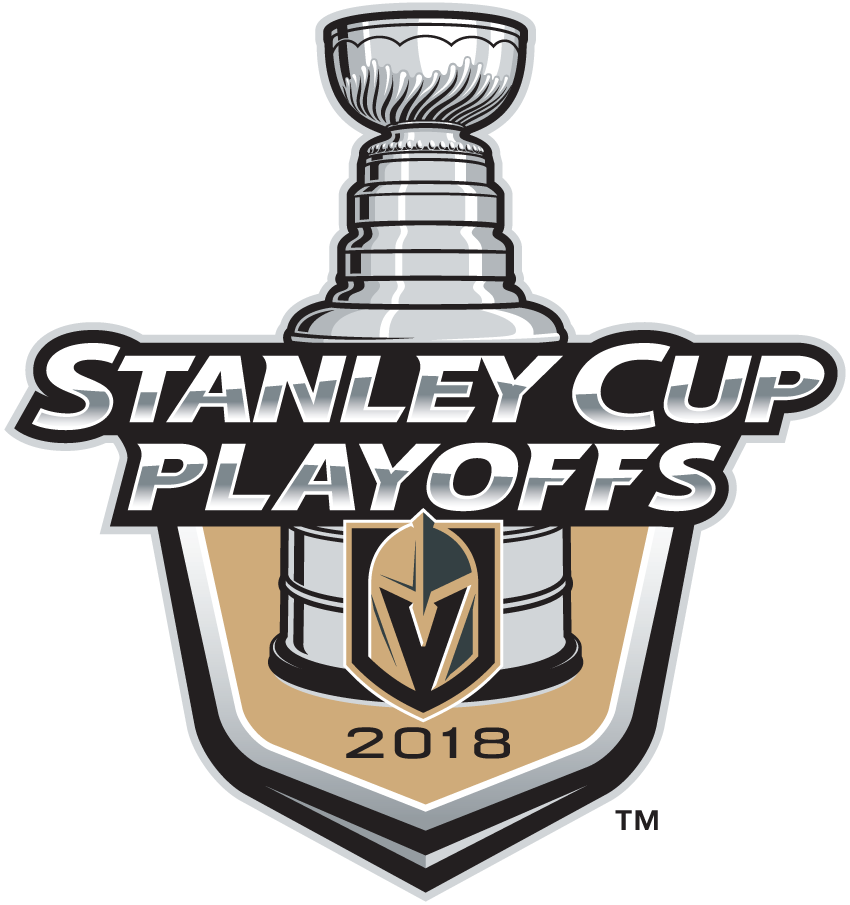 Vegas Golden Knights Logo Event Logo (2017/18) - Vegas Golden Knights 2018 Stanley Cup Playoffs Logo SportsLogos.Net