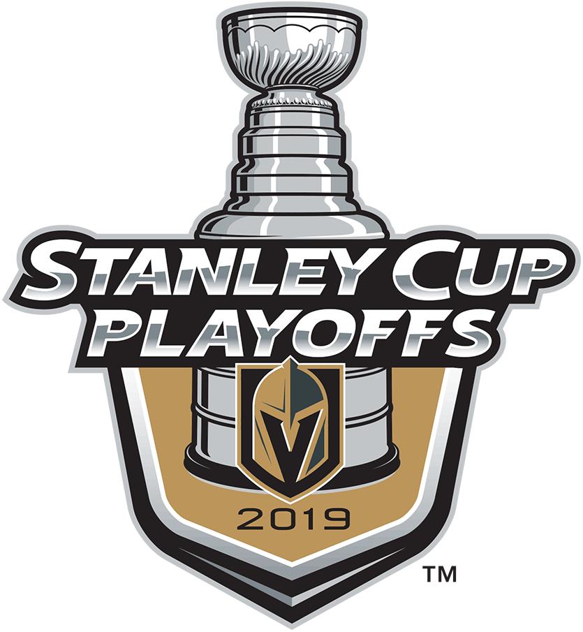 Vegas Golden Knights Logo Event Logo (2018/19) - Vegas Golden Knights 2019 Stanley Cup Playoffs Logo SportsLogos.Net