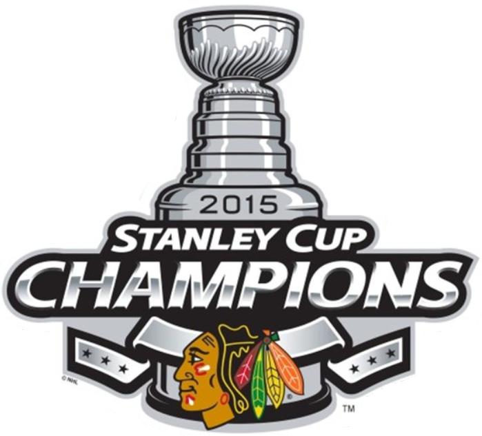 Chicago Blackhawks Logo Champion Logo (2014/15) - 2015 Stanley Cup Champions logo SportsLogos.Net