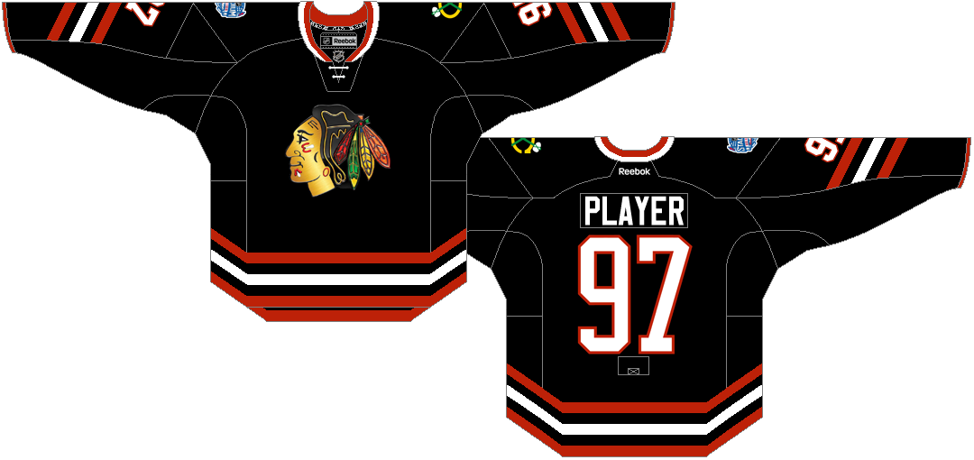 Chicago Blackhawks Uniform Special Event Uniform (2013/14) - Stadium Series jersey worn VS the Pittsburgh Penguins at Soldier Field on March 1, 2014. SportsLogos.Net