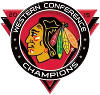 Chicago Blackhawks Logo Champion Logo (2014/15) - 2015 Western Conference Champions logo SportsLogos.Net