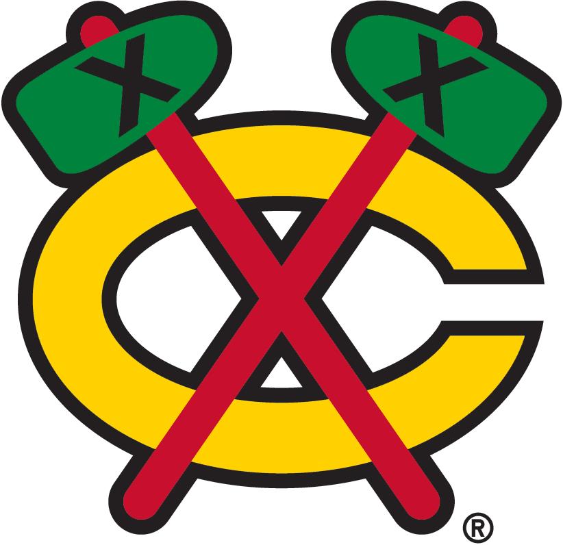 Chicago Blackhawks Logo Alternate Logo (1999/00-Pres) - Gold C with crossed tomahawks SportsLogos.Net