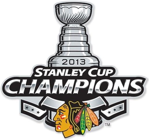 Chicago Blackhawks Logo Champion Logo (2012/13) - Chicago Blackhawks 2013 Stanley Cup Champions logo SportsLogos.Net