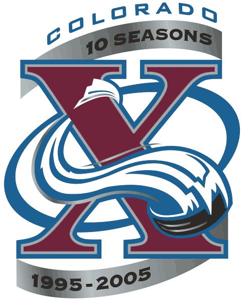 Colorado Avalanche Logo Anniversary Logo (2005/06) - 0th Anniversary of the Colorado Avalanche SportsLogos.Net