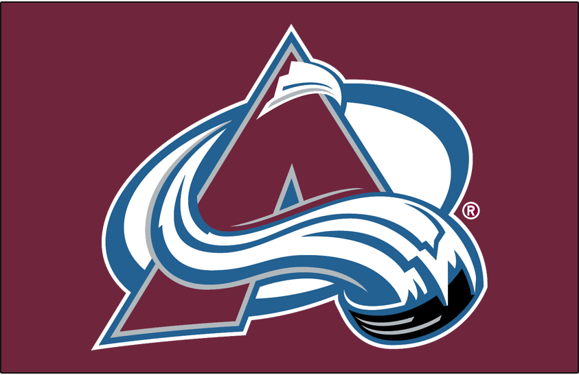 Colorado Avalanche Logo Primary Dark Logo (1999/00-Pres) - Colorado Avalanche primary logo on burgundy SportsLogos.Net