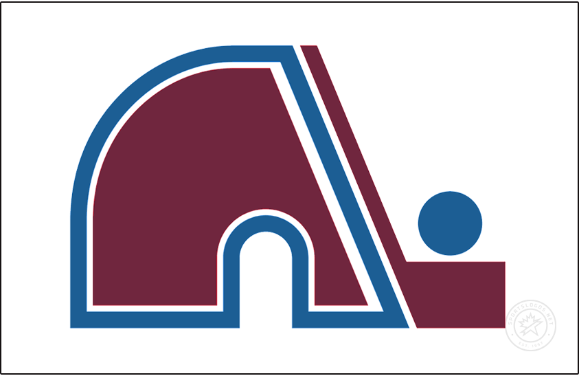 Colorado Avalanche Logo Jersey Logo (2020/21-Pres) - The Colorado Avalanche Reverse Retro logo, a throwback to the 1979 season when the club played as the Quebec Nordiques. The design features the Nordiques classic logo of an igloo in the shape of an N next to a hockey stick and a puck, the logo has been re-coloured here to match the modern burgundy and blue colours of the Avalanche. SportsLogos.Net