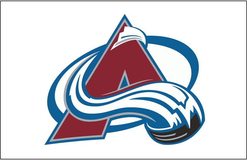 Colorado Avalanche Logo Jersey Logo (1995/96-1998/99) - Avalanche logo on white, worn on Colorado Avalanche home jersey from 1995-96 through 1998-99 SportsLogos.Net