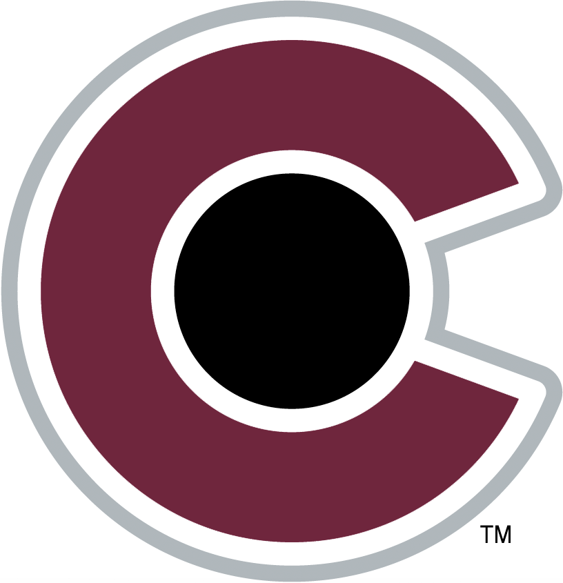 Colorado Avalanche Logo Secondary Logo (2017/18-Pres) - CO in burgundy, black, and silver. Based off of the state flag of Colorado.  SportsLogos.Net