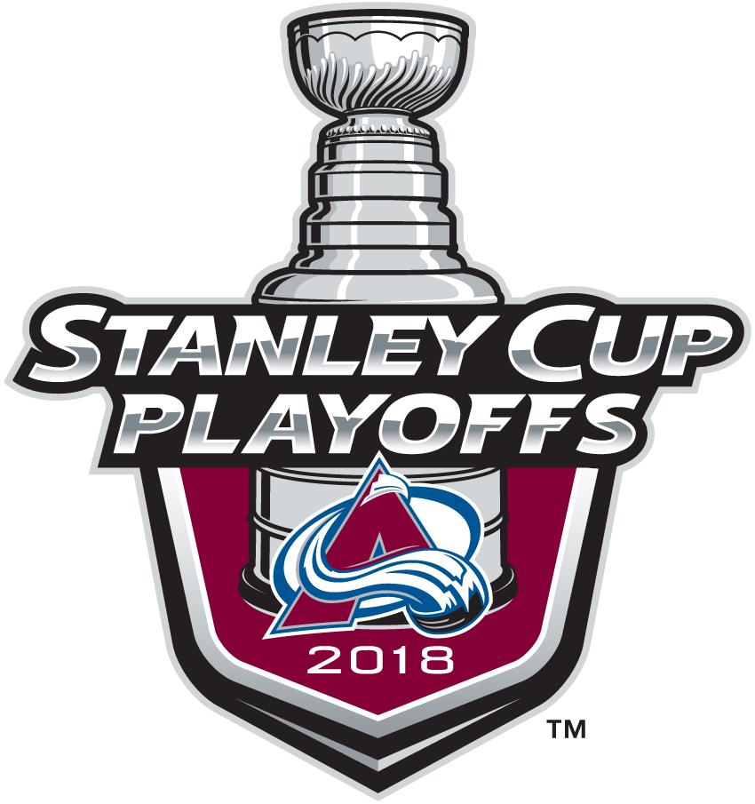 Colorado Avalanche Logo Event Logo (2017/18) - Colorado Avalanche 2018 Stanley Cup Playoffs Logo SportsLogos.Net