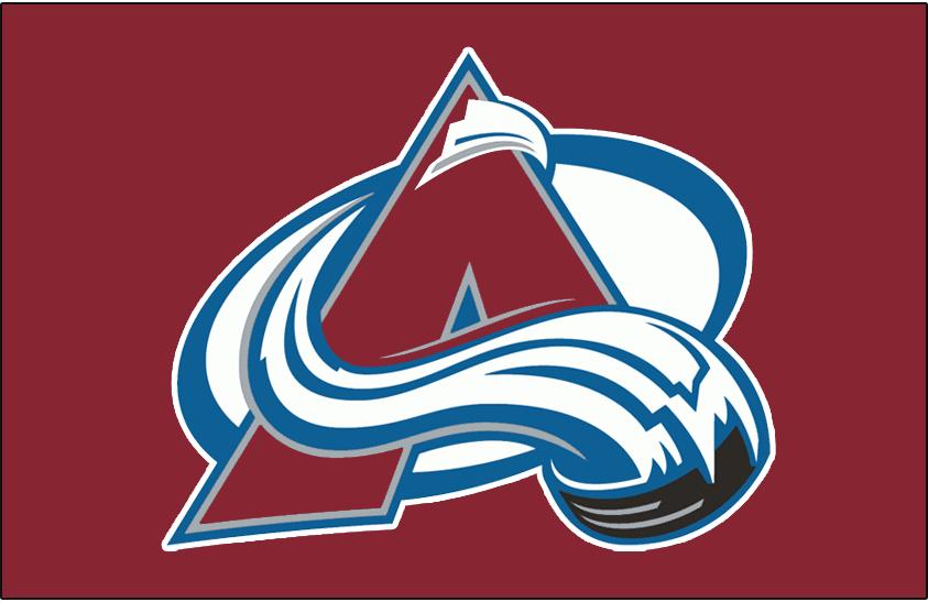 Colorado Avalanche Logo Jersey Logo (1995/96-1998/99) - Avalanche logo on burgundy, worn on Colorado Avalanche road jersey from 1995-96 through 1998-99 SportsLogos.Net