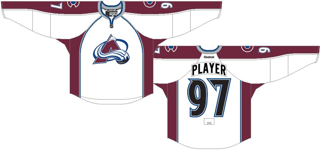 Colorado Avalanche Uniform Light Uniform (2015/16-2016/17) -  SportsLogos.Net