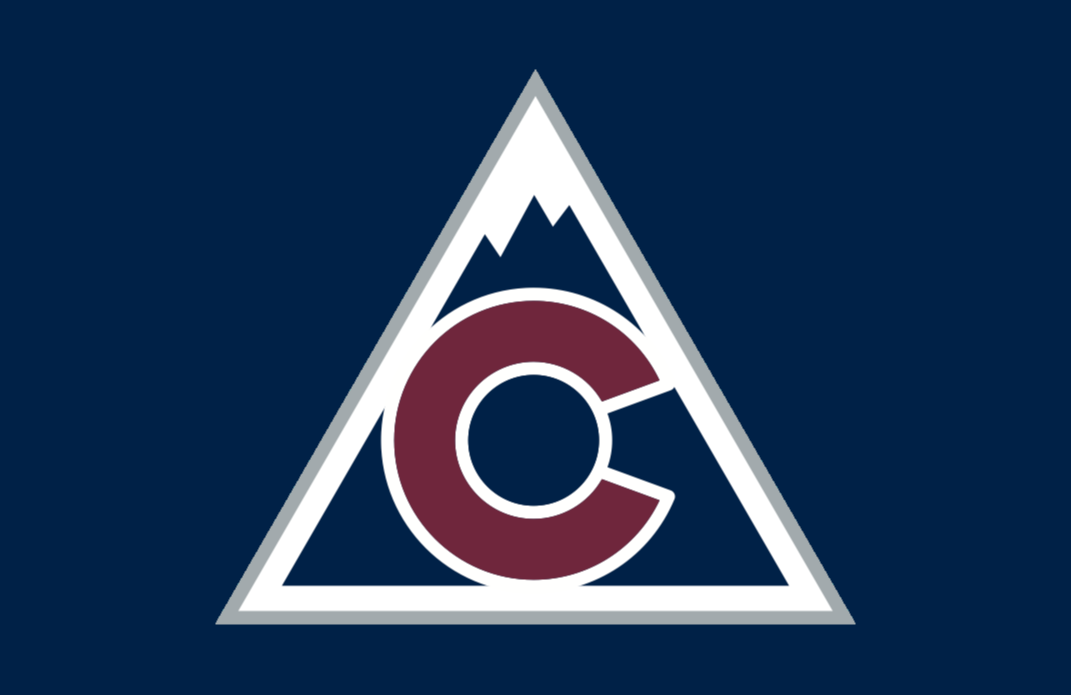 Colorado Avalanche Logo Jersey Logo (2018/19-Pres) - Mountain with state of Colorado flag logo in the middle, worn on Avalanche third jersey SportsLogos.Net