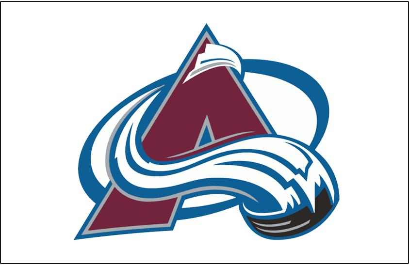 Colorado Avalanche Logo Jersey Logo (1999/00-Pres) - Avalanche logo on white, worn on Colorado Avalanche light jersey starting in 1999-2000 season SportsLogos.Net