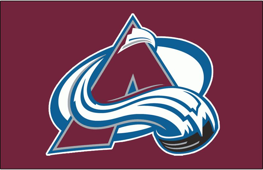 Colorado Avalanche Logo Jersey Logo (1999/00-Pres) - Avalanche logo on burgundy, worn on Colorado Avalanche dark jersey starting in 1999-2000 season SportsLogos.Net