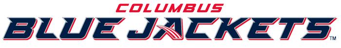 Columbus Blue Jackets Logo Wordmark Logo (2007/08-2016/17) - 'Blue Jackets' in blue italics below 'Columbus' in red SportsLogos.Net