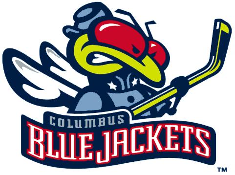 Columbus Blue Jackets Logo Alternate Logo (2000/01-2003/04) - A bug holding a hockey stick and wearing a union jacket SportsLogos.Net