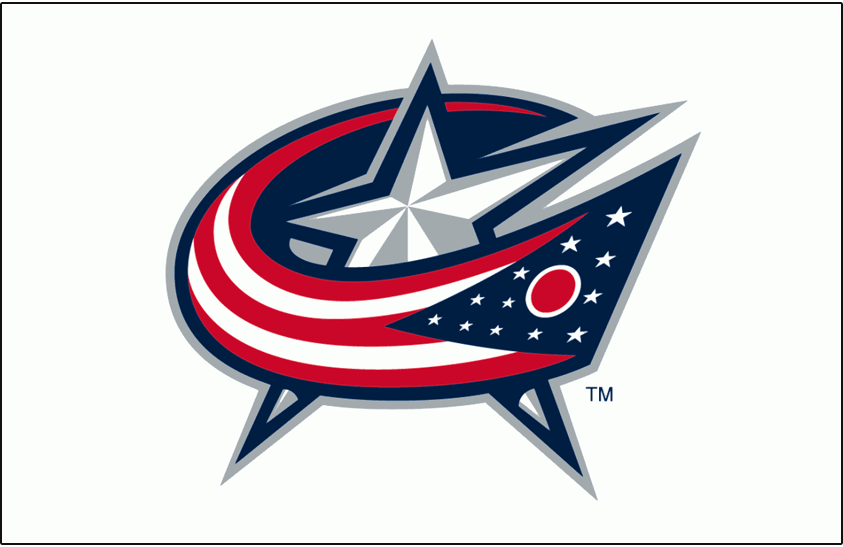 Columbus Blue Jackets Logo Jersey Logo (2007/08-Pres) - The state flag of Ohio wrapped around a star in the shape of a C, worn on the Columbus Blue Jackets road white jersey starting in 2007-08 SportsLogos.Net