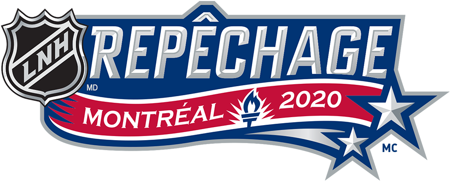 NHL Draft Logo Unused Logo (2019/20) - The original french version of the 2020 NHL Draft Logo alternate logo. This event was to be held in Montreal in July 2020 but had to be held virtually and moved to October due to the COVID-19 pandemic. SportsLogos.Net