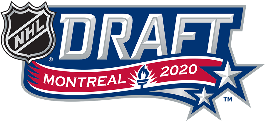 NHL Draft Logo Unused Logo (2019/20) - The original version of the 2020 NHL Draft Logo alternate logo. This event was to be held in Montreal in July 2020 but had to be held virtually and moved to October due to the COVID-19 pandemic. SportsLogos.Net