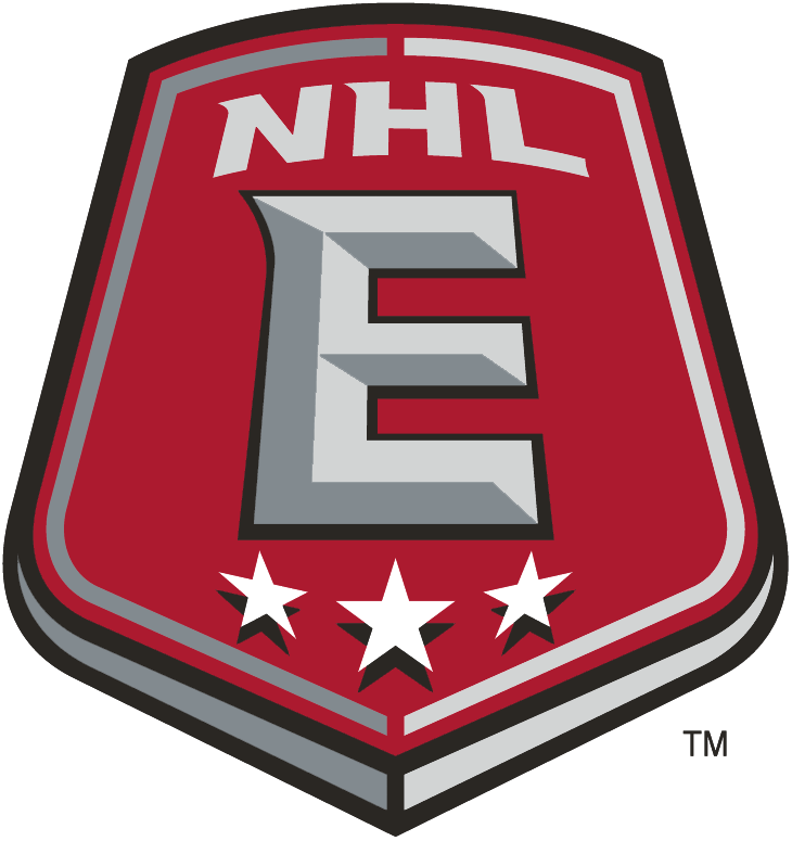 NHL Eastern Conference Logo Alternate Logo (2005/06-Pres) - Red shield with white E and 3 stars SportsLogos.Net