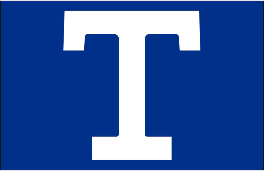 Toronto Hockey Club Logo Jersey Logo (1917/18) - White T on blue, worn on Toronto Hockey Club jerseys during the 1917-18 season SportsLogos.Net