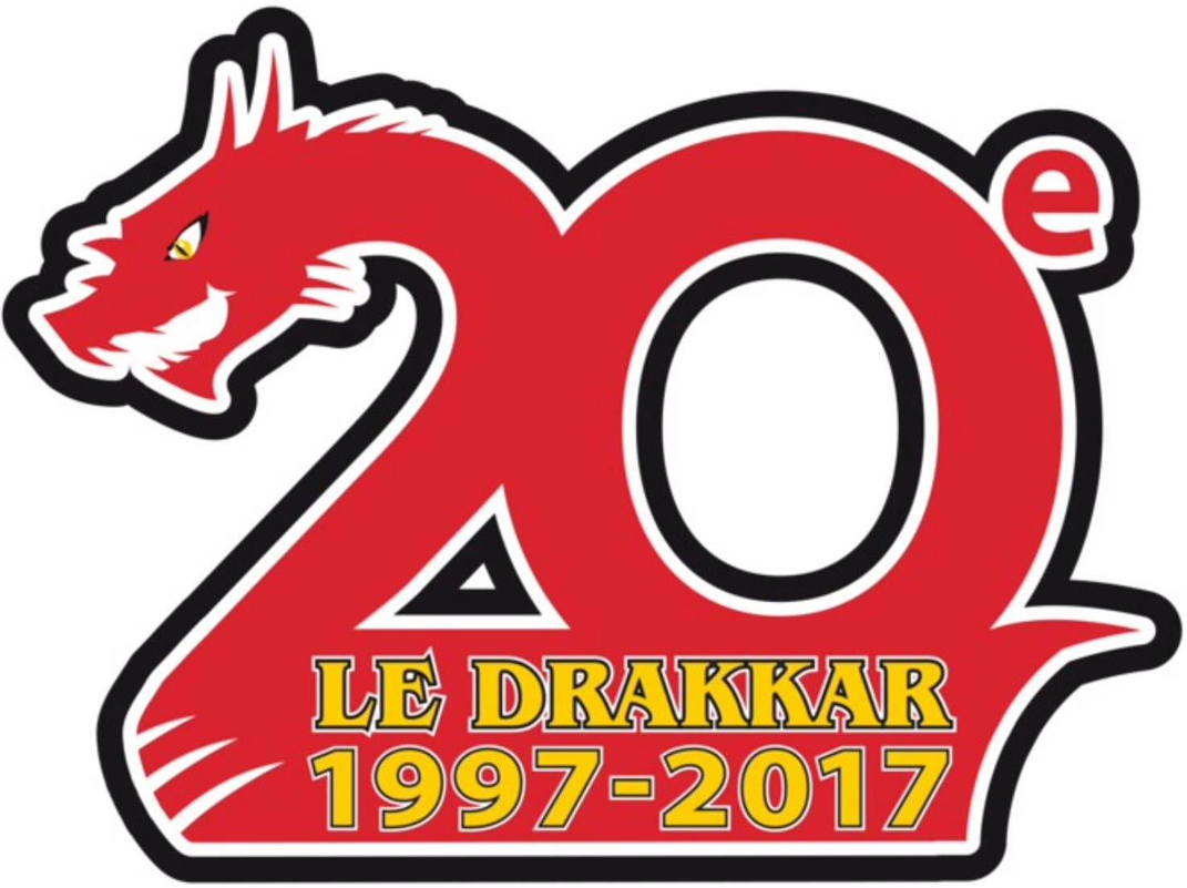 Baie-Comeau Drakkar Logo Anniversary Logo (2016/17) -  SportsLogos.Net