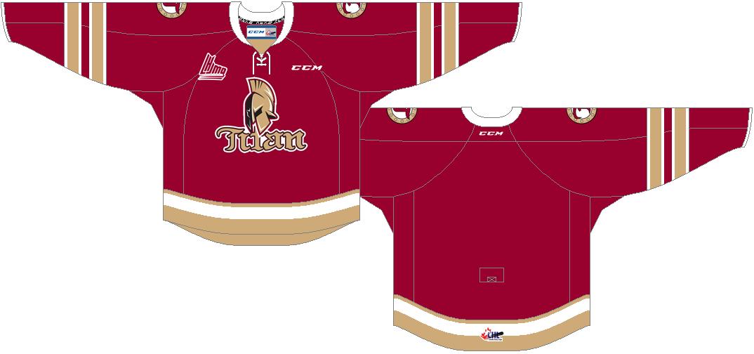 Acadie-Bathurst Titan Uniform Road Uniform (2014/15-Pres) -  SportsLogos.Net