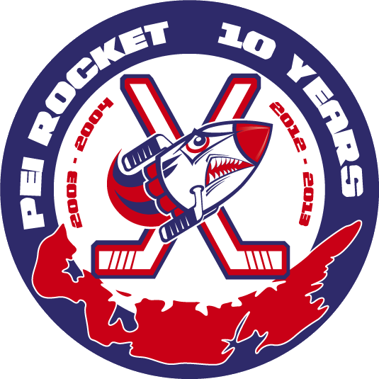 PEI Rocket Logo Anniversary Logo (2012/13) - 10th Anniversary logo SportsLogos.Net