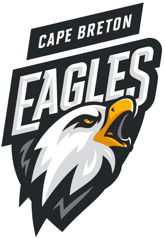 Cape Breton Eagles Logo Primary Logo (2019/20-Pres) - An eagle head in a black shield SportsLogos.Net
