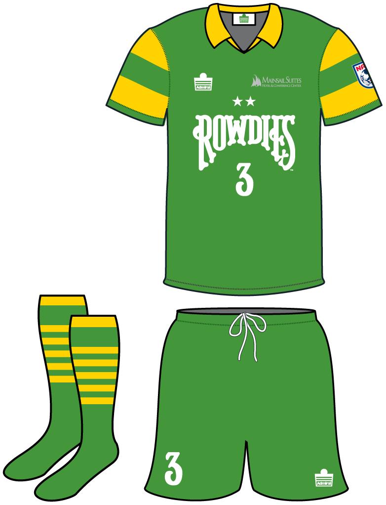 Tampa Bay Rowdies Uniform Home Uniform (2013-2015) -  SportsLogos.Net