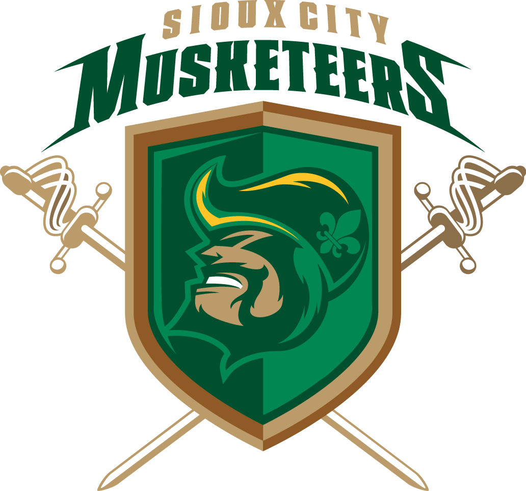 Sioux City  Musketeers Logo Primary Logo (2010/11-Pres) -  SportsLogos.Net