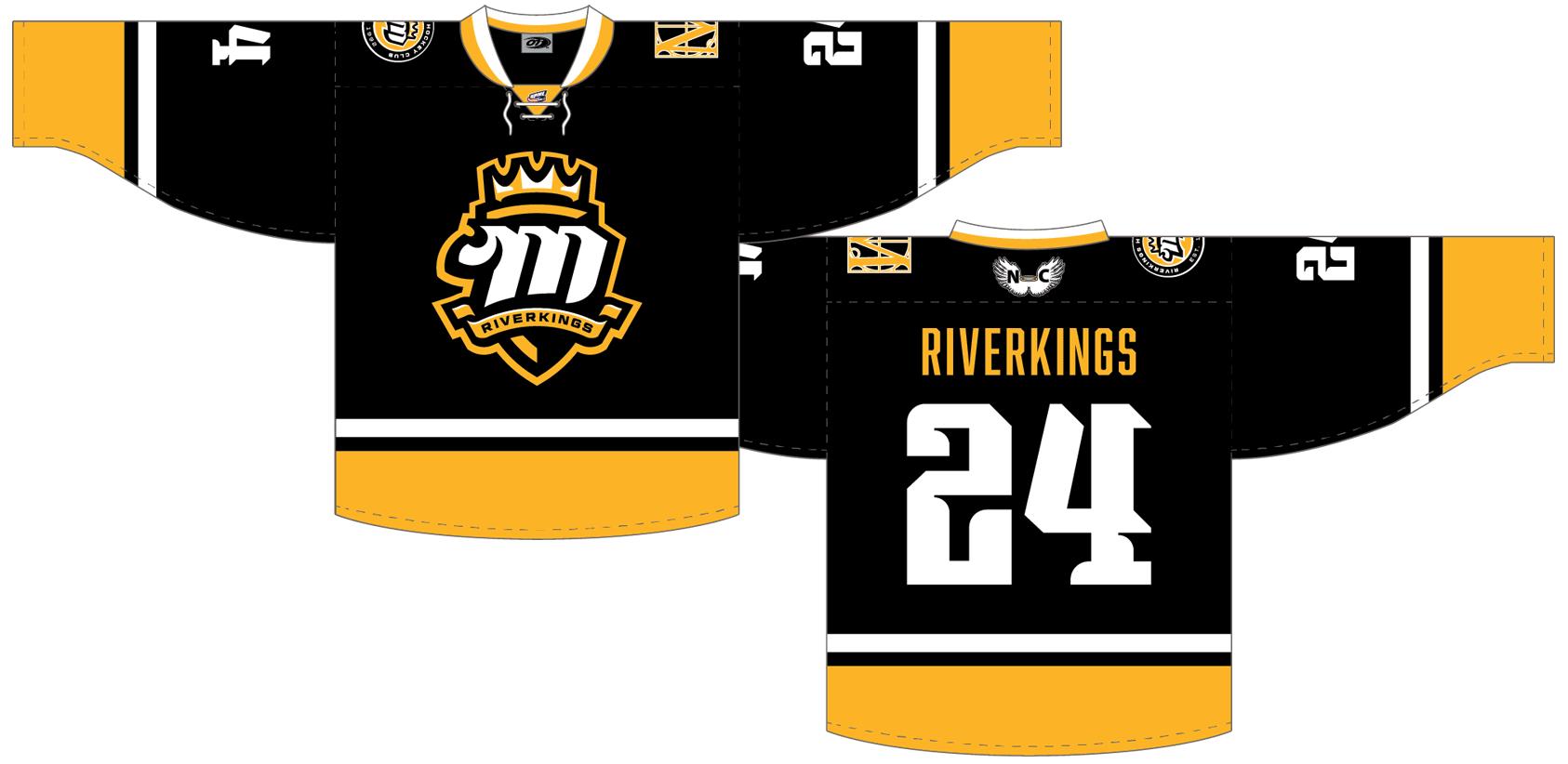 Mississippi RiverKings Uniform Dark Uniform (2015/16-Pres) -  SportsLogos.Net