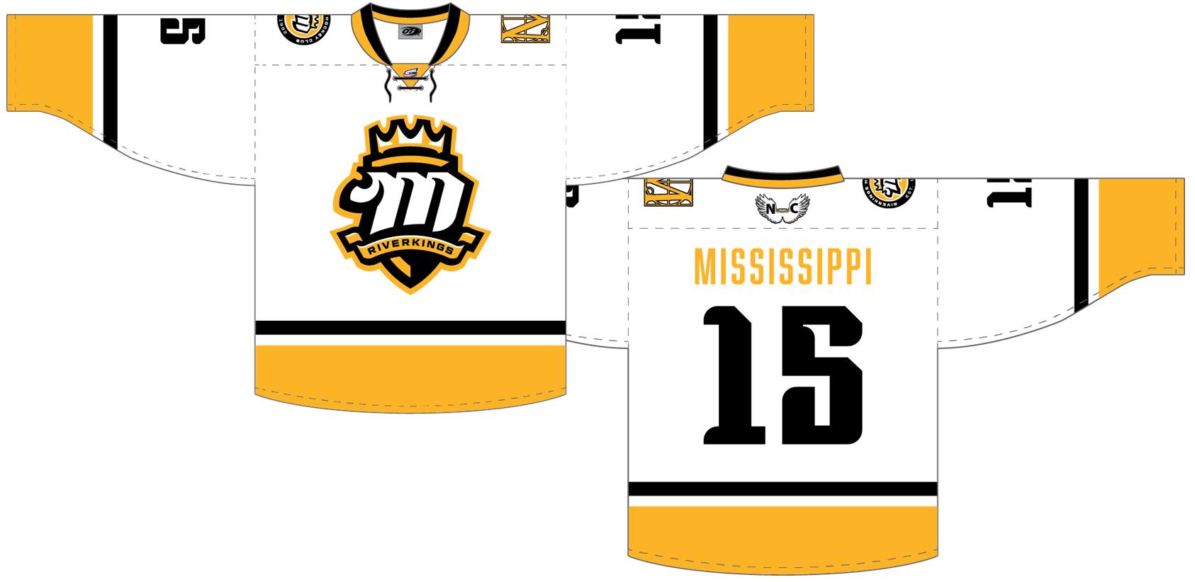 Mississippi RiverKings Uniform Light Uniform (2015/16-Pres) -  SportsLogos.Net